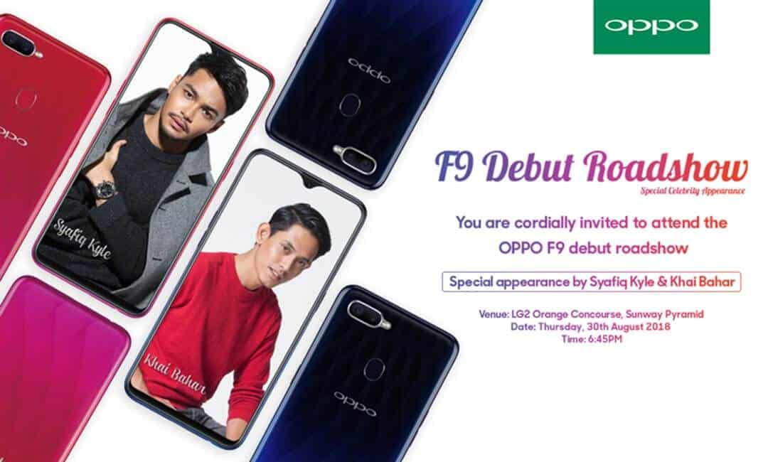 You are currently viewing OPPO F9 Debuts Roadshow with Special Appearance from Khai Bahar and Syafiq Kyle