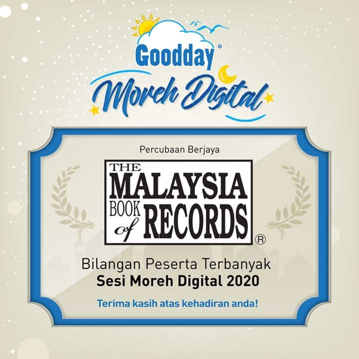 Read more about the article Goodday Milk makes it to the Malaysia Book of Records for Hosting the Largest Virtual Moreh Session in Malaysia