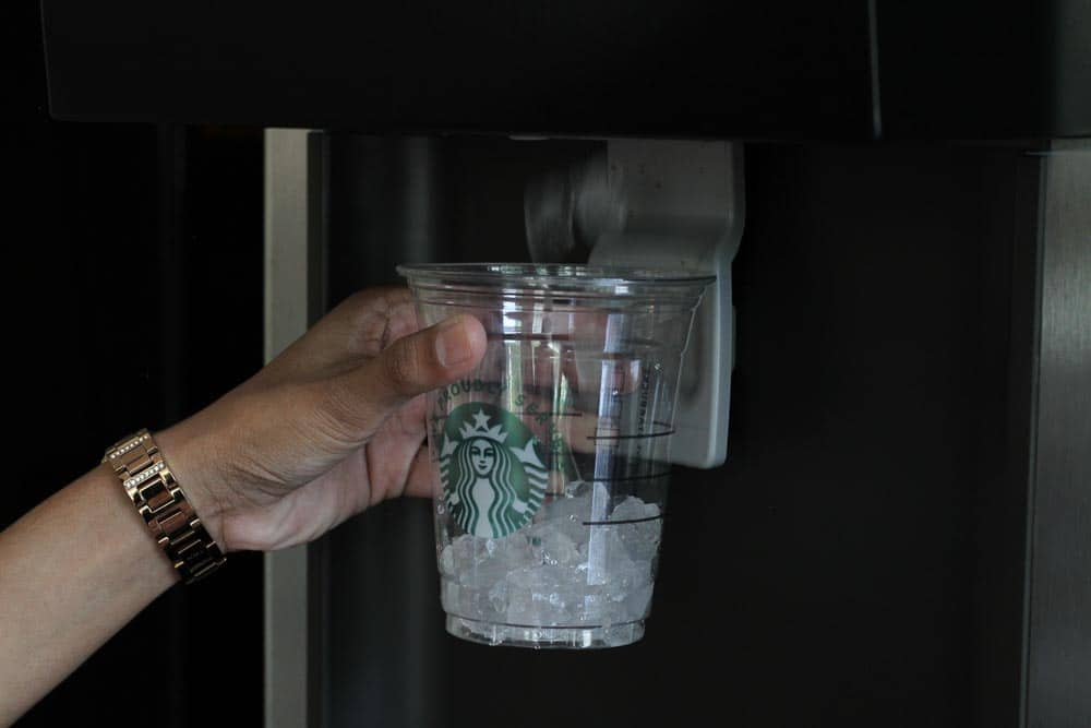 Guests can select both iced and hot beverages