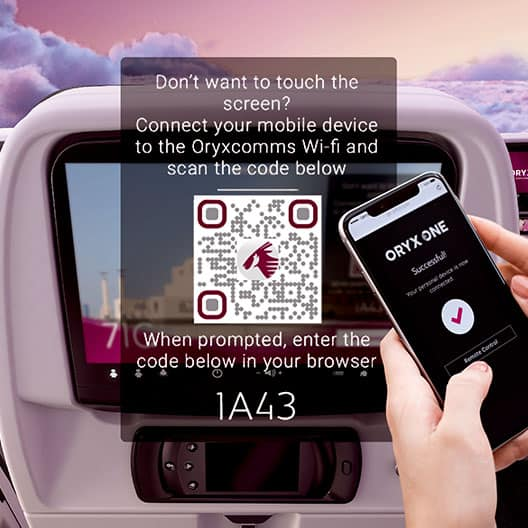 Qatar Airways to Become the First Global Airline to Offer Passengers 100% Touch-Free 'Zero-Touch' In-flight Entertainment Technology