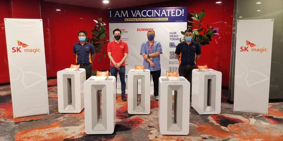 SK magic provides clean air and water to Malaysians at Covid-19 vaccine centers and hospitals